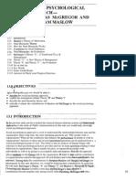 Public Administration Unit-13 Social Psychological Approach-Douglas McGregor and Abraham Maslow