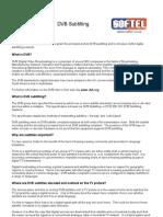 DVB Subtitling FAQ
