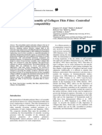 Layer-By-Layer Assembly of Collagen Thin Films- Controlled Thickness and Biocompatibility