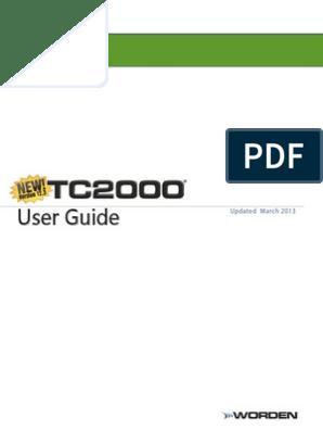 TC2000 v12 User Guide | Keyboard Shortcut | Tab (Gui)