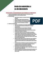 Reconocimiento de Materiales e Instrumentos de Laboratorio