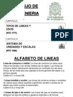 03 y 04 Tipos de Lineas y Escalas Udea