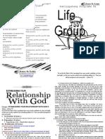 Establishing Your Relationship With God II - Copy
