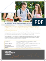 Academic Summer Programmes in London