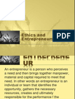 Ethics and Entrepreneurship