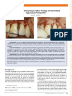 A Case Report Using Regenerative Therapy for Generalized Aggressive Periodontitis