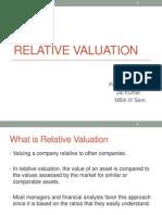 Relative Valuation Jai