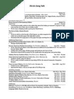 Suh Resume April 2014