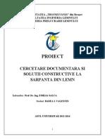 Cercetare Documentara Si Solutii Constructive La Sarpanta Din Lemn