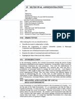 Public Administration Unit-58 Municipal Administration