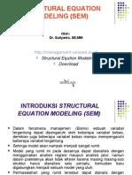 Structural Equation Modeling SEM 20121