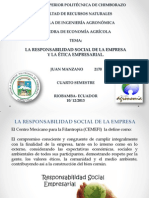 La Responsabilidad Social de La Empresa y La Ética Empresarial.
