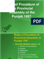 Rules of Procedure of the Provincial Assembly of the Punjab 1997---4