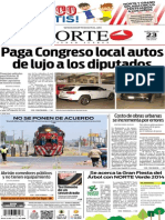 Periódico Norte de Ciudad Juárez edición impresa del 23 abril del 2014