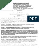 Ley Organica Del Ministerio Público y Su Reglamento