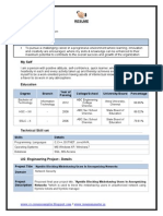 Information Technology CV Template Download