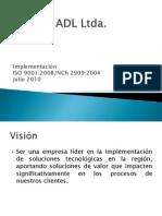 Implementación ADL ISO 9001-2008