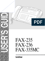 User Guide Brother Fax 236s