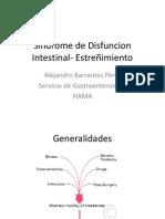 Sindrome de Disfuncion Intestinal- Estreñimiento