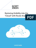Managing the Cloud in Cloud Computing With Route Analytics