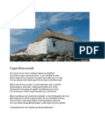 The Leaving of Berneray - Gaelic and English