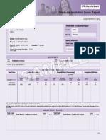 Institution Score Report