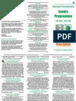 Dorset Humanists Event Programme Feb - June 2014 Update