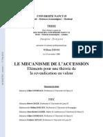 Mecanisme de l Accession