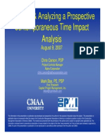 Prospective Time Impact Analysis