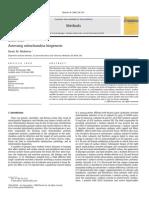 Assessing Mitochondria Biogenesis