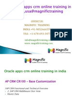 Oracle Apps Crm Online Training in Uk,Usa@Magnifictraining