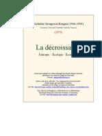 Nicholas Georgescu-Roegen - La Decroissance