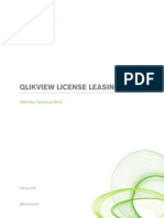 QlikView License Leasing Technical Brief Paper