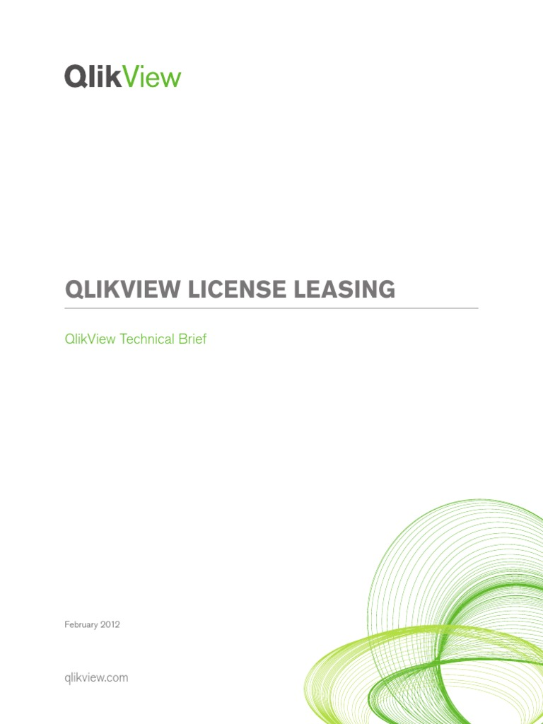 QlikView License Leasing Technical Brief Paper | Server