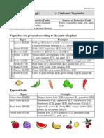 Protective Food - Fruit & Veg