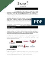 Shaker Franchise Brochure 2013