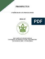 YSP University UG Admission