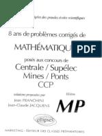 8 Ans de Problémes Corrigés de Math