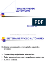 Lección 16 Sistema Nervioso Autónomo
