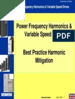 Siemens Harmonics Best Practice Presentation