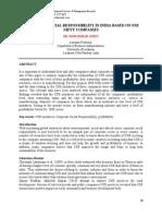 Csr Status-nse Infty Companies-2012 -India