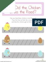 Prewriting Diagonal Chickens Prek