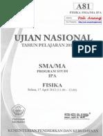 Pembahasan Soal UN Fisika SMA 2012 Paket A81 Zona D