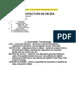 ARHITECTURI DE RETEA
