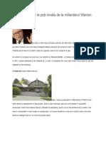 6 Lucruri Pe Care Le Poti Invata de La Miliardarul Warren Buffet