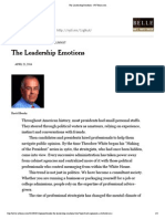 The Leadership Emotions - NYTimes