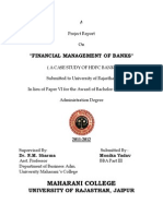 project on HDFC bank.