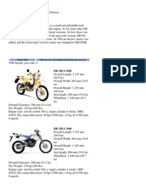 Astonishing Suzuki Dr350 Model History Cylinder Engine Propulsion Camellatalisay Diy Chair Ideas Camellatalisaycom