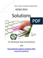 KEAM 2014 Engineering Solutions - Mathematics (Paper 2)