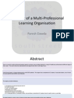 Anatomy of a Multi-Professional Learning Organisation